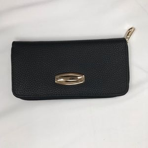 Black and gold black clutch wallet/purse new